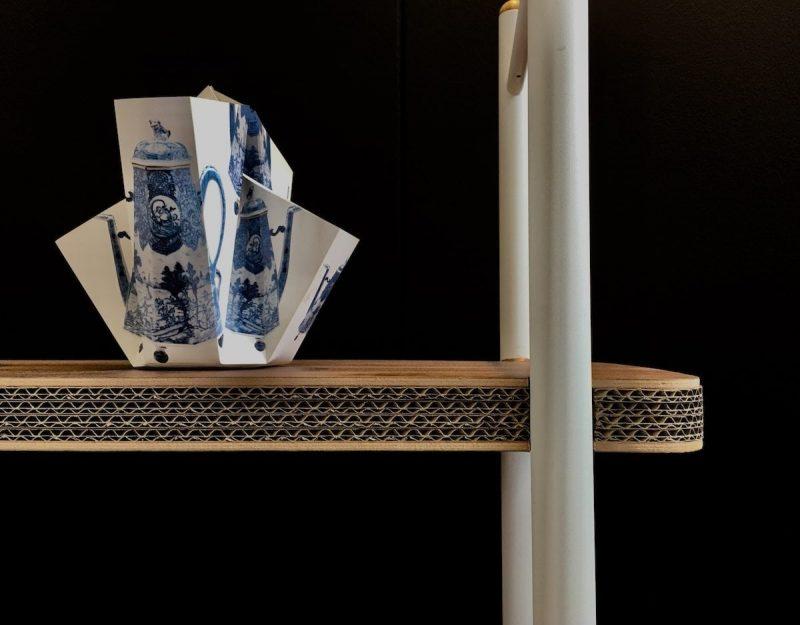 Cardboard Cabinet van Cartoni Design is een Design kast gemaakt van golfkarton. Duurzaam Dutch Design bij Studio Perspective.
