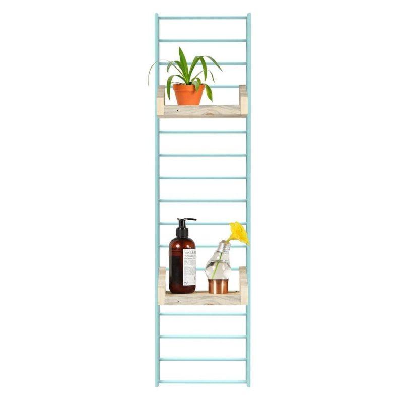 Fency Pakket Mini van Tolhuijs Design bestaat uit een stalen wandrek met verplaatsbare plankjes bij Studio Perspective.