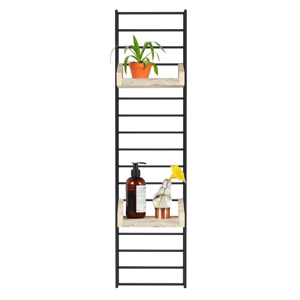 Fency Pakket Mini Zwart van Tolhuijs is een modulair, zwart wandrek en past perfect in de woonkamer, keuken, badkamer, werkplek of kinderkamer.
