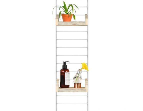 Fency Pakket Mini van Tolhuijs is een modulair geel wandrek en past perfect in de woonkamer, keuken, badkamer, werkplek of kinderkamer.