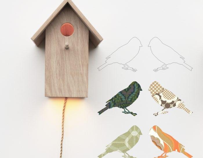 De Vogelhuislamp van Inke is een duurzame, handgemaakte wandlamp. Een originele lamp voor de kinderkamer bij Studio Perspective.