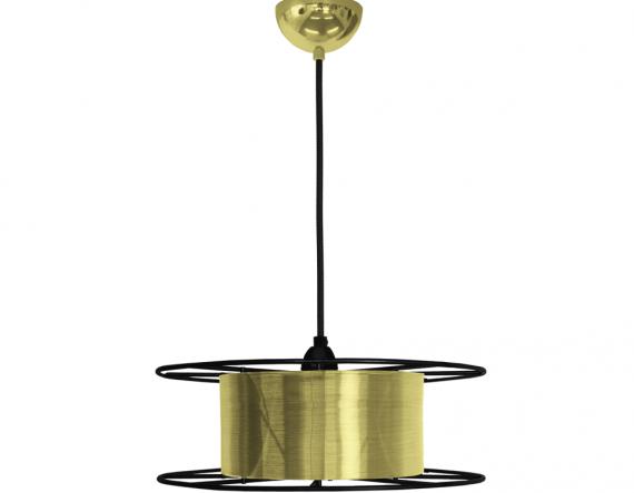 Messing hanglamp Spool brass Tolhuijs bij Studio Perspective