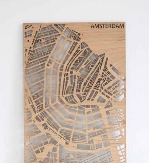Amsterdamse stadskaart PlanqKaart Eikenfineer