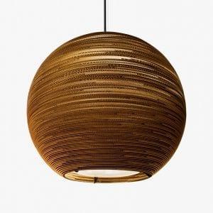 De Scraplight Arcturus Pendant van Graypants is een duurzame lamp gemaakt van gerecycled karton bij Studio Perspective.