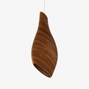 De Scraplight Nest32 Pendant van Graypants is een duurzame en handgemaakte designlamp van karton bij Studio Perspective.