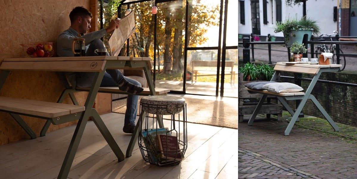 Weltevree Tablebench: multifunctioneel duurzaam design meubel voor binnen én buiten