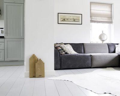 Serveerplank Wooden Amsterdam Esdoorn Grachtenpand met logo