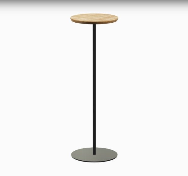Bijzettafel Mogelijkheid Collectie met bamboe houten blad en zwart metalen onderstel