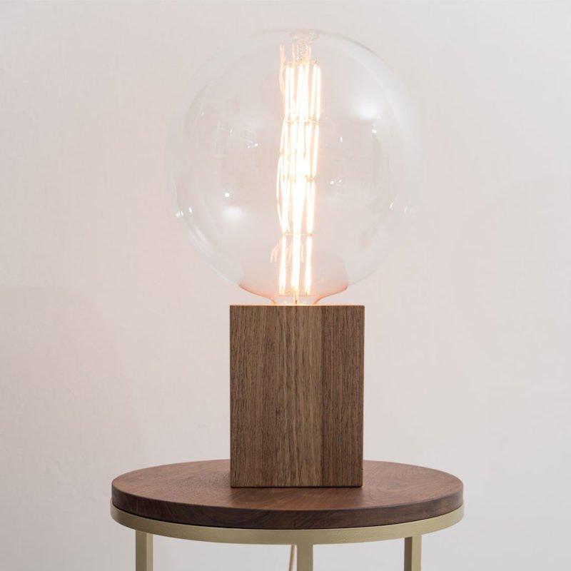 TWO-O Duke lamp Hout en houten bijzettafel