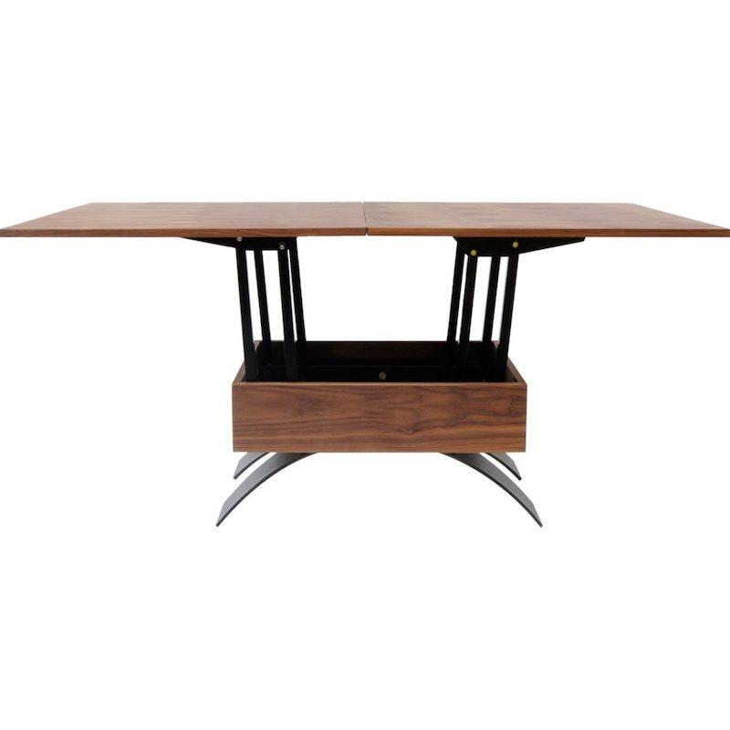 Circulaire kantoorinrichting met verstelbare tafel