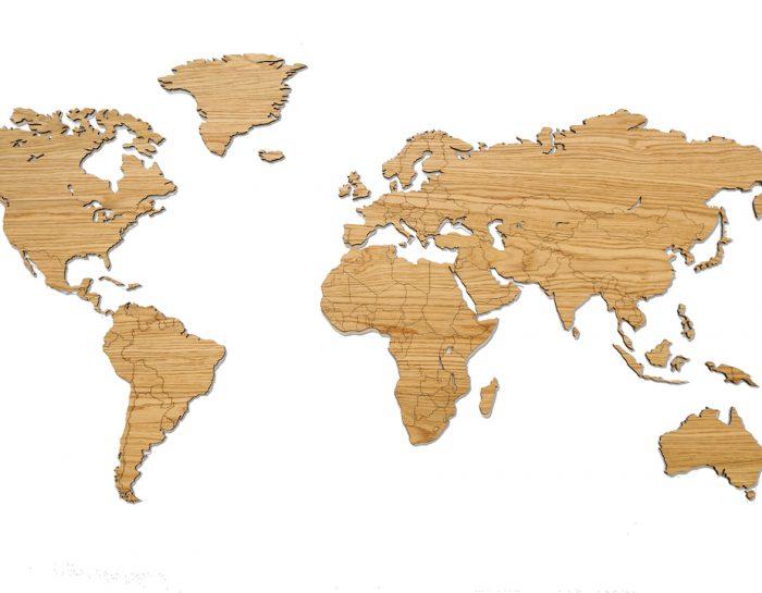 My Wooden World houten wereldkaart eiken