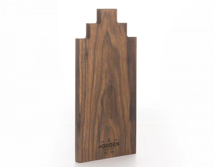 Serveerplank Wooden Amsterdam Walnoot Amsterdams grachtenpand
