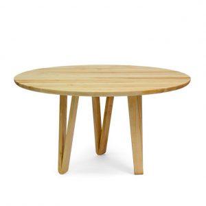 ronde houten tafel