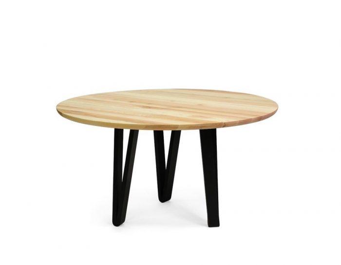 ronde houten vergadertafel