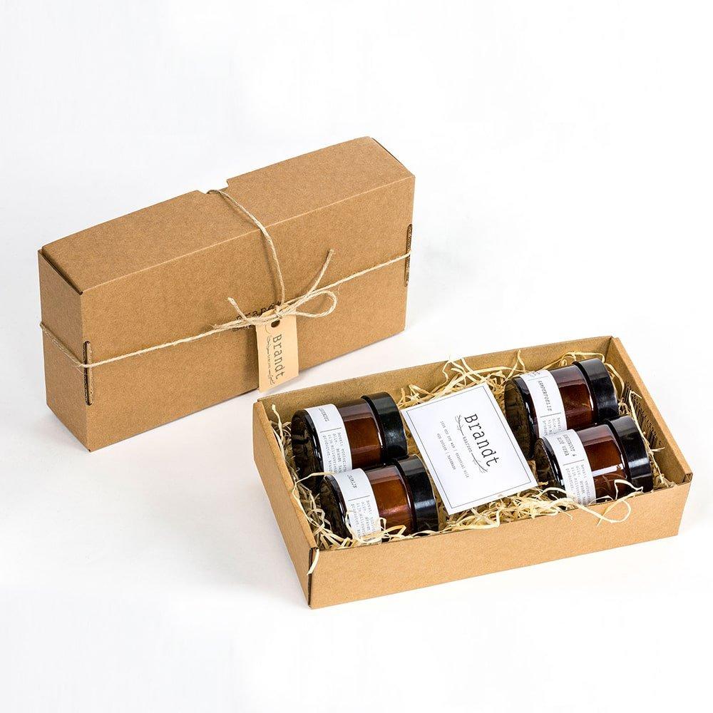 Soja kaarsen cadeauset van Brandt. Vegan kaarsen als relatiegeschenk
