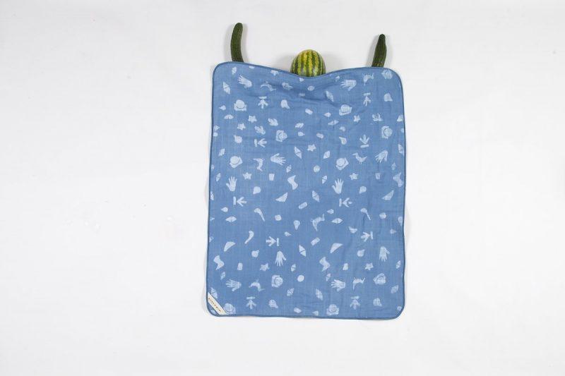 blauwe deken voor de baby bij Studio Perspective