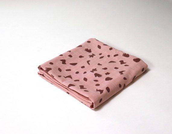 Boro*Mini Hydrofieldoek Roze Meekrap Kleine Print XXL