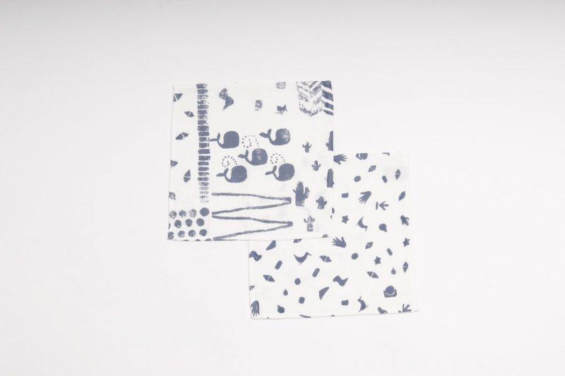 Boro*Mini baby monddoekjes van biologisch katoen bij Studio Perspective