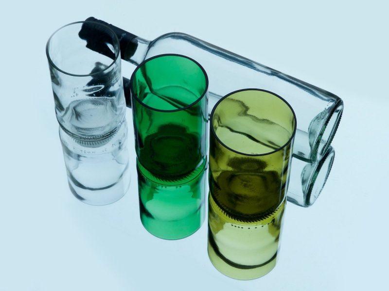 Rebottled drinkglazen Amber bij Studio Perspective