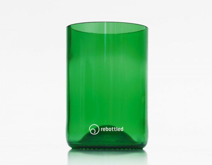 Groene drinkglazen Rebottled bij Studio Perspective