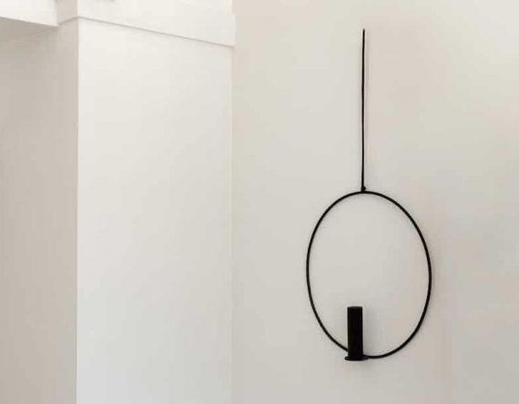 Design kandelaar voor aan de muur bij Studio Perspective