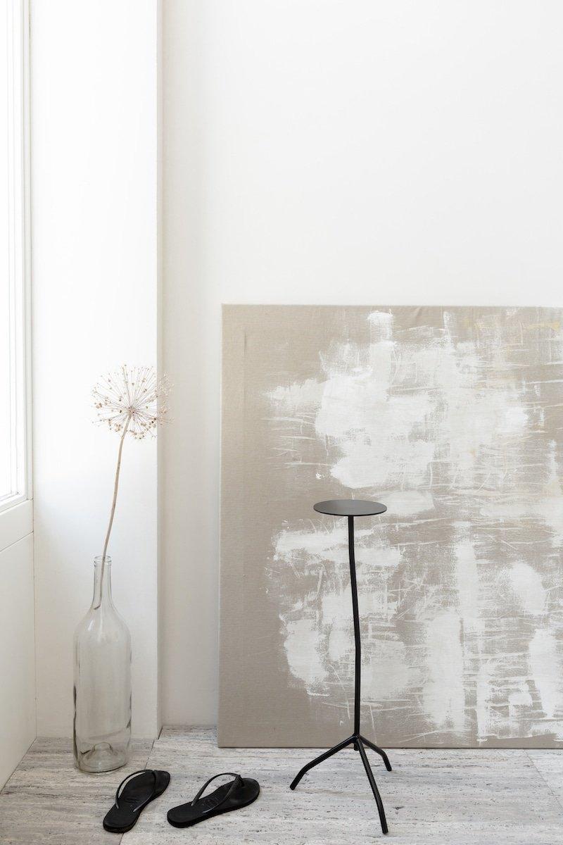 Koffietafel van metaal bij Studio Perspective