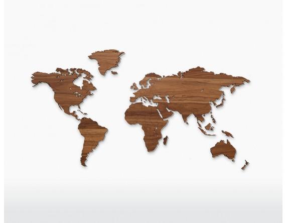 houten wereldkaart walnoot amsterdam