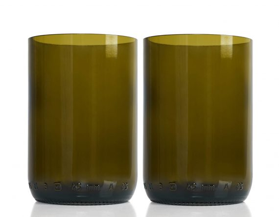Rebottled 2-pack drinkglas duurzaam brown Studio Perspective