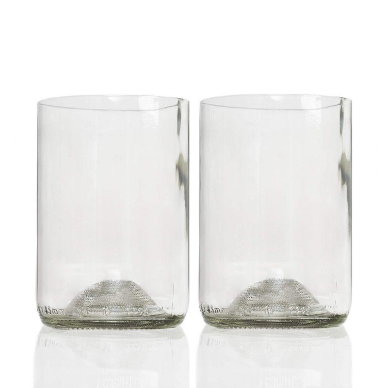Rebottled glas clear 2 stuks helder drinkglas Studio Perspective