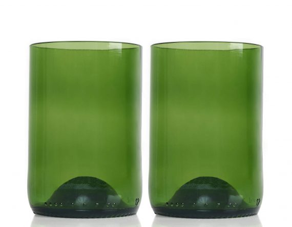 Rebottled glas groen duurzaam cadeau Studio Perspective
