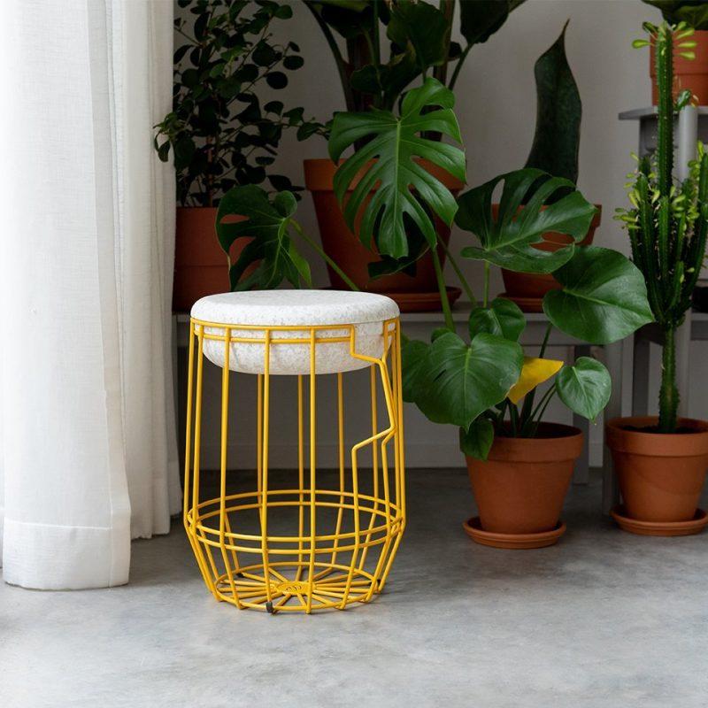 Weltevree tuinkruk opbergmand Carrier geel