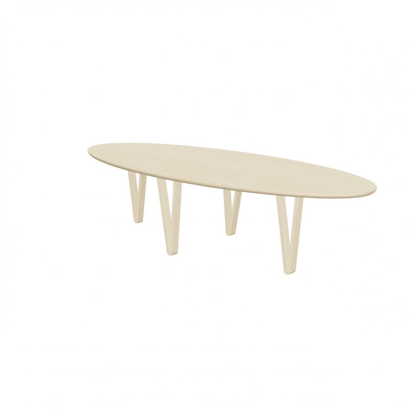 Ovalen eettafel vergadertafel zwarte poot