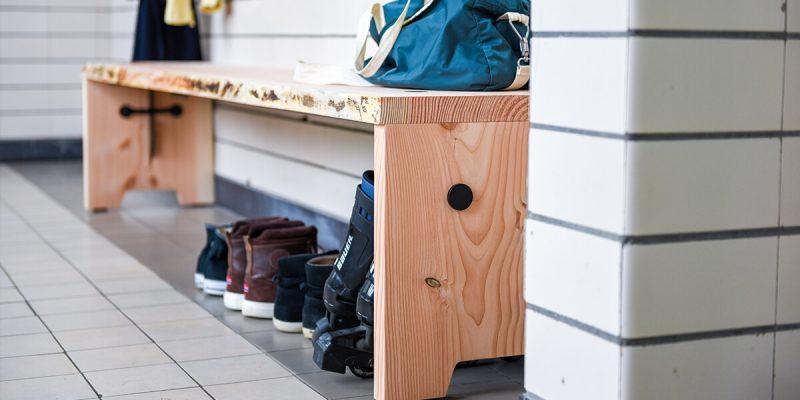 Tuinbank ruw hout duurzaam weltevree
