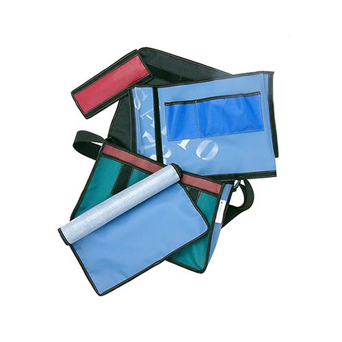 Stoere leren luiertas van gerecyclede materialen