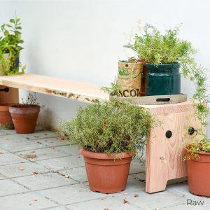 Forestry tuinbank van duurzaam hout uit Nederland