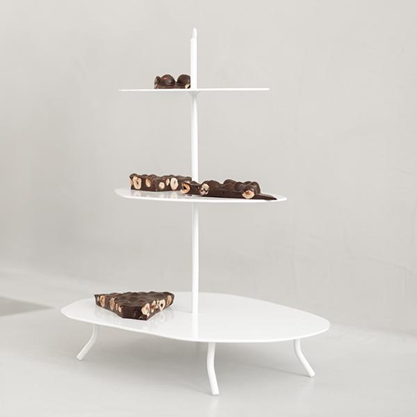etagere K Willem in huis vierkant wit metaal Studio Perspective