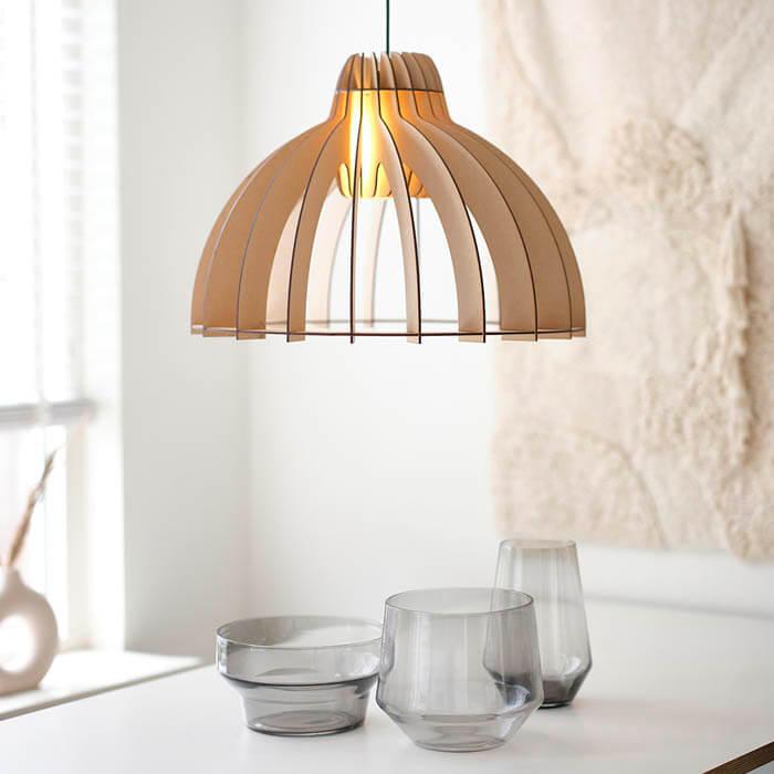 naturel hanglamp klassiek hout design