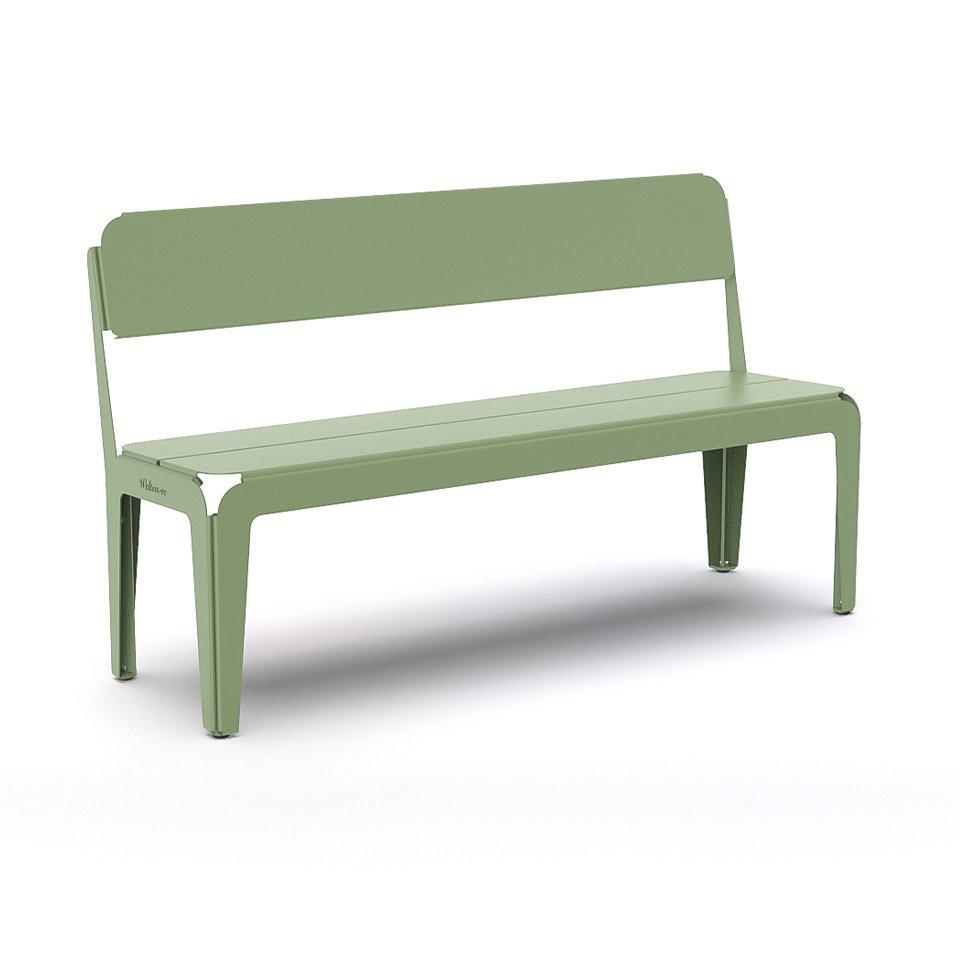 Weltevree Bended-Bencg-with-backrest-grey-blue-front-view
