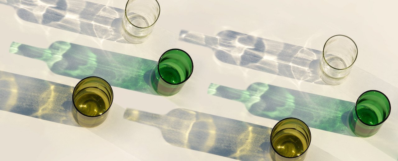 Rebottled circulair drinkglas in kleur Clear