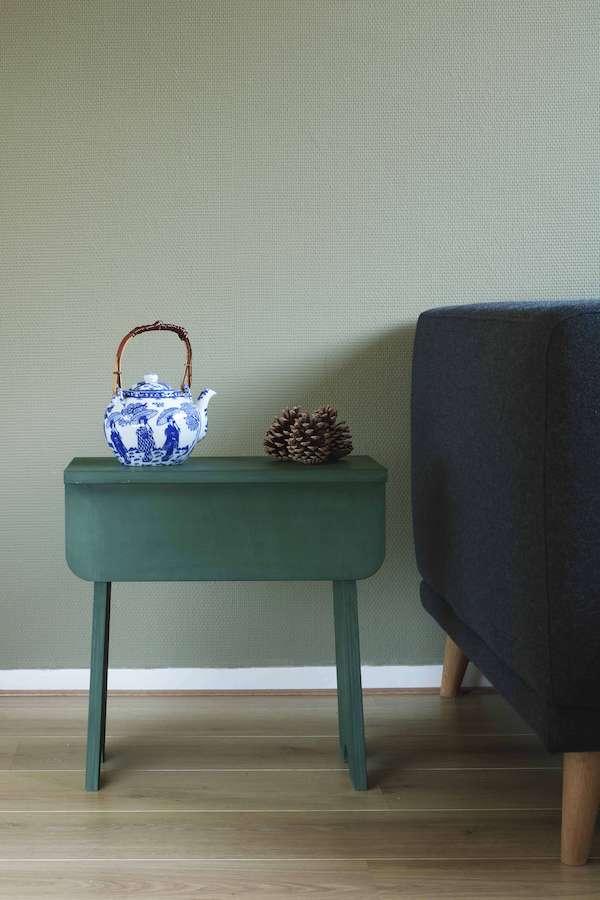 duurzame kruk groen en stoel Family W