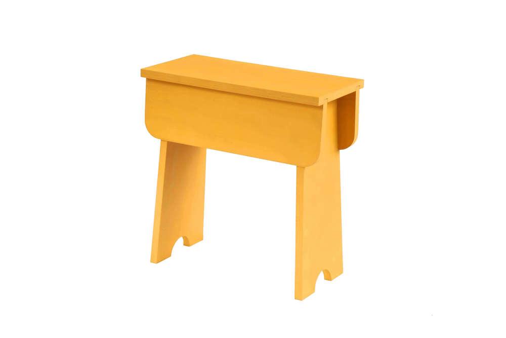 duurzame kruk geel hout Family W