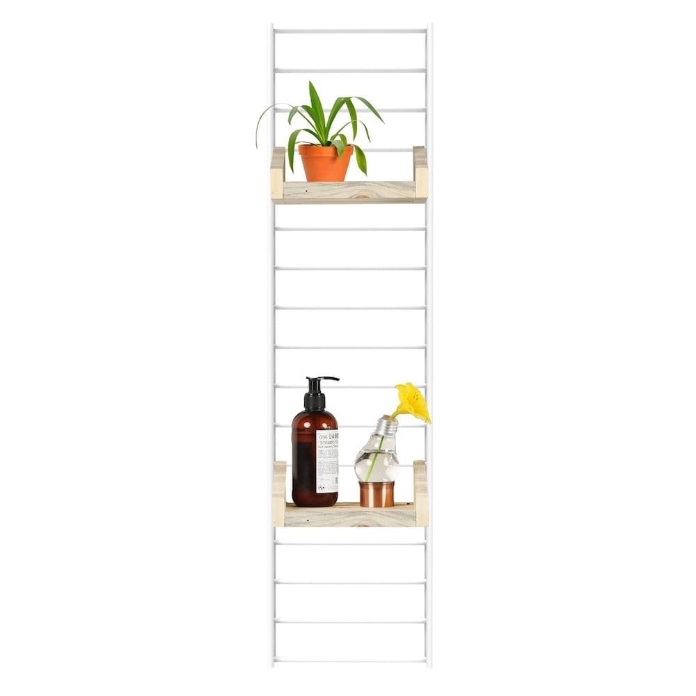 Fency Pakket Mini van Tolhuijs is een modulair, mintgroen wandrek en past perfect in de woonkamer, keuken, badkamer, werkplek of kinderkamer.
