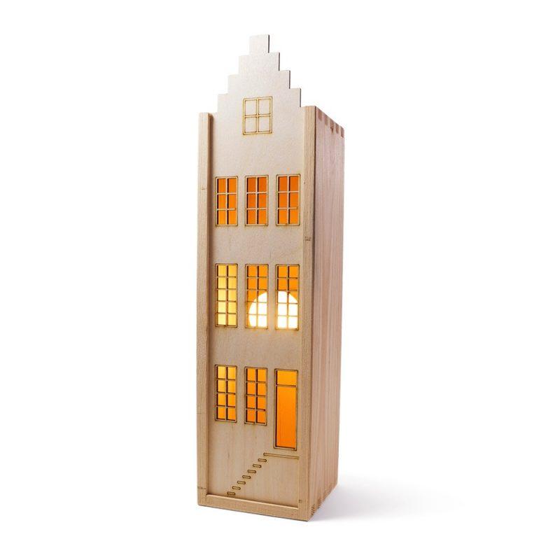 wijnkist grachtenhuis duurzaam cadeau Studio Perspective