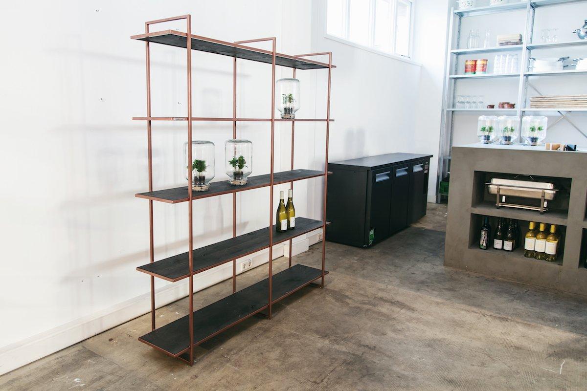 Wandkast wit bamboo design Studio Perspective