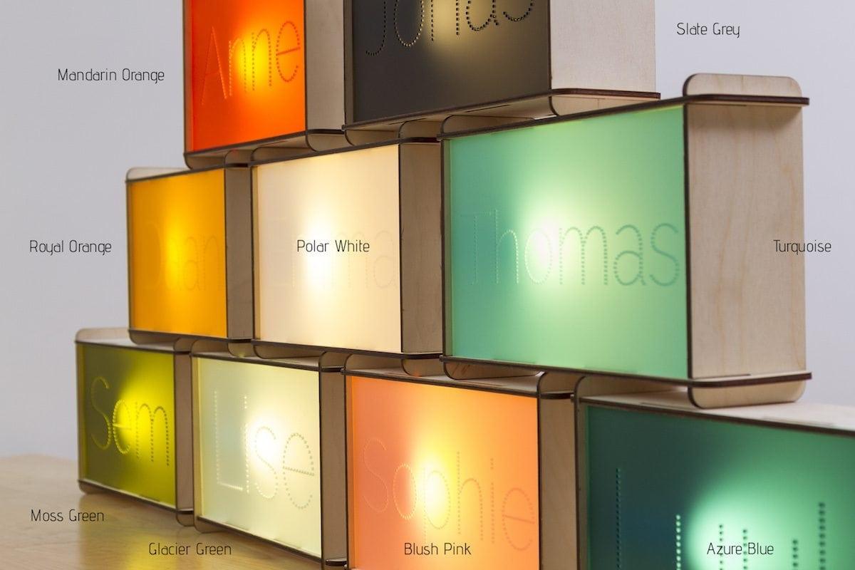 naam nachtlamp kleuren kinderkamer