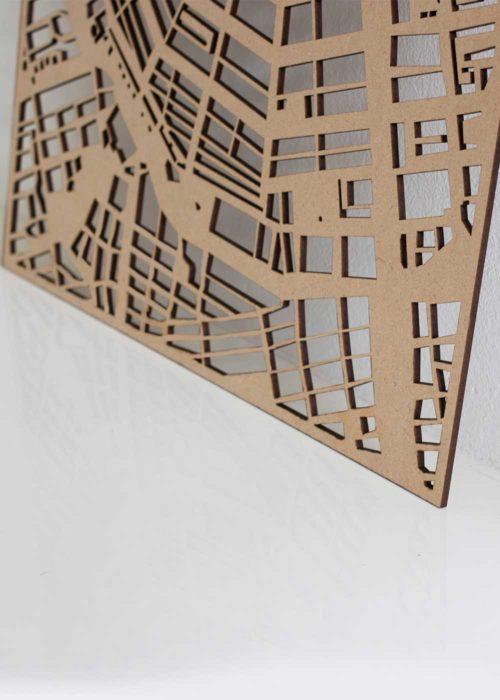 PlanqKaart Houten Stadskaart Antwerpen is een houten stadsplattegrond van het centrum van Antwerpen.