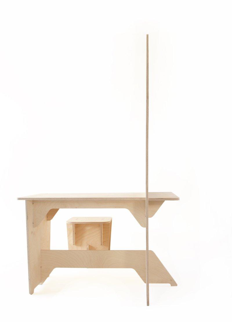 Inke houten speelhuis voor binnen bij Studio Perspective.