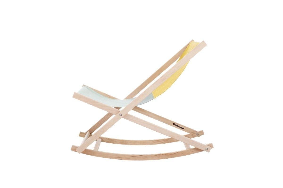 opvouwbare strandstoel inklapbare tuinstoel. iconische strandstoel, stoffen strandstoel, ouderwetse strandstoel