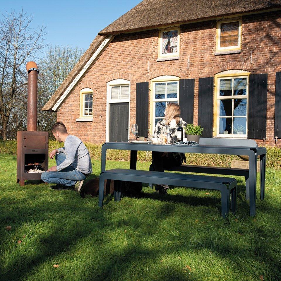 Weltevree-bended-serie-bench-grey-blue-above-detail