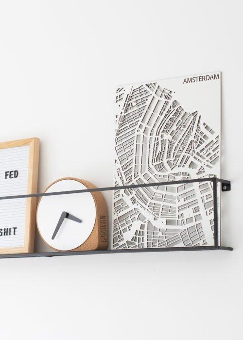 Amsterdam plattegrond van hout wanddecoratie